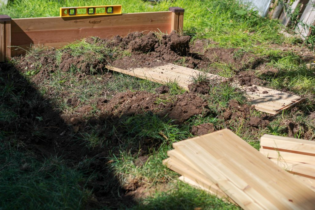 leveling a raised garden bed