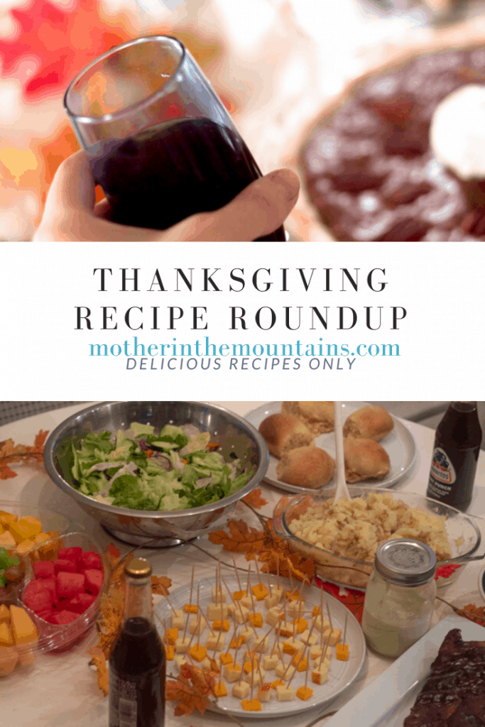 pinterest image for Thanksgiving Recipe Round up